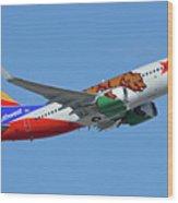 Southwest Boeing 737-7h4 N943wn California One Phoenix Sky Harbor October 16 2017 Wood Print
