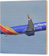 Southwest Boeing 737-8 Max N8708q Phoenix Sky Harbor October 10 2017 Wood Print