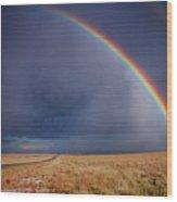 Southwest Double Rainbow Wood Print