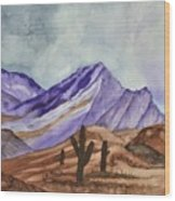 Southwest Landscape IIi Wood Print