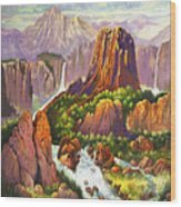 Southwest Mountain Floodwaters Wood Print