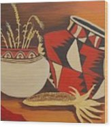 Southwest Pottery Wood Print