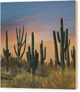 Southwest Sunset Wood Print