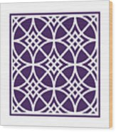 Southwestern Inspired With Border In Purple Wood Print