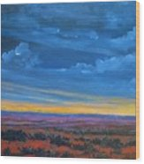 Southwestern Sunset Wood Print