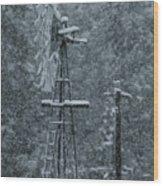 Southworth Windmill Snow Bound Wood Print