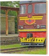 Soviet Era Train In Haapsalu Estonia Wood Print