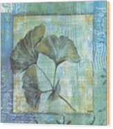 Spa Gingko Postcard 1 Wood Print