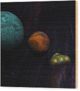 Space 01-26-10 Wood Print