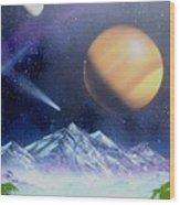Space Art 2 Wood Print by Lane Owen