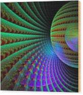 Space Corridor Wood Print