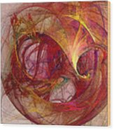 Space Demand Abstract Art Wood Print