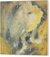Space Elephant Wood Print