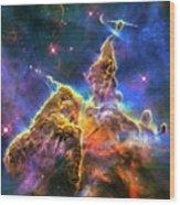 Space Image Mystic Mountain Carina Nebula Wood Print