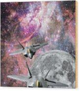 Space Invaders Wood Print