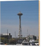 Space Needle From The Harbor Wood Print