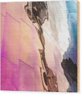 Space Needle Reflection Wood Print