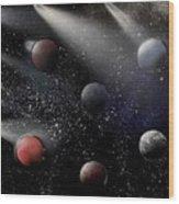 Space Odyssey Wood Print