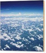 Space Of Cloudz Wood Print