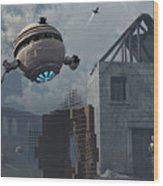 Space Probes And Androids Survey An Wood Print by Mark Stevenson