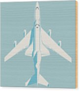 Space Shuttle And 747 Transport Jet - Sky Wood Print