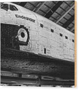 Space Shuttle Endeavour 2 Wood Print