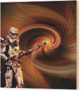 Space Soldier Wood Print