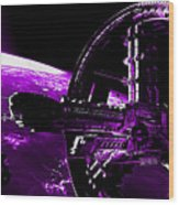 Space Station Wood Print