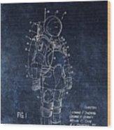 Space Suit Patent Illustration Wood Print