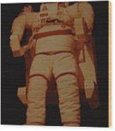 Space Suit Wood Print