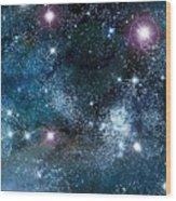 Space003 Wood Print by Svetlana Sewell