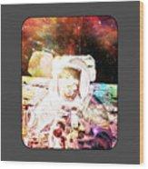 Spaceman Wood Print