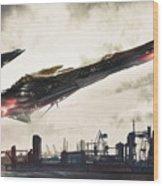 Spaceship Wood Print
