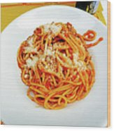 Spaghetti Bolognese Wood Print