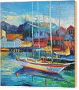 Spain Boats Wood Print