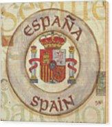 Spain Coat Of Arms Wood Print by Debbie DeWitt