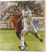 Spain Soccer Bernabeu Trophy Wood Print