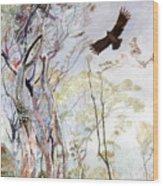 Span - Black Eagle Wood Print