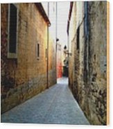 Spanish Alley Wood Print