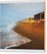 Spanish Beach Chalets Wood Print