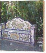 Spanish Bench Wood Print