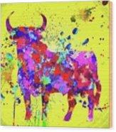 Spanish Bull  Toro Bravo Wood Print