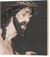 Spanish Christ Wood Print