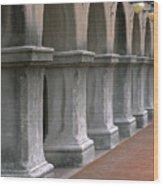 Spanish Columns Wood Print