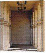 Spanish Corridor Wood Print
