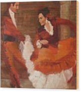 Spanish Dancers Wood Print