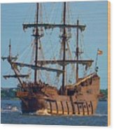 Spanish Galleon Wood Print