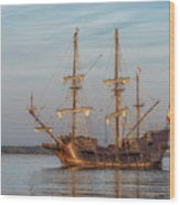 Spanish Galleon Wood Print