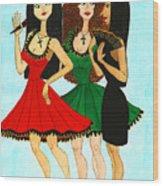 Spanish Girls Wood Print