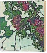Spanish Grapes Wood Print